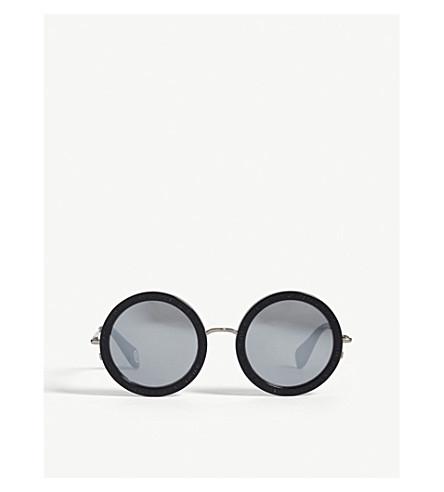 BAPE BS13027 round-frame sunglasses (Black