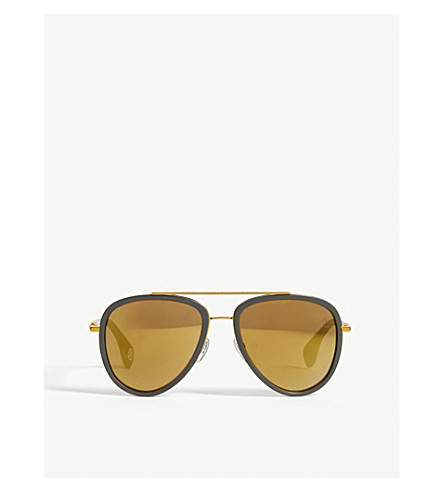 BAPE BS13028 pilot-frame sunglasses (Green