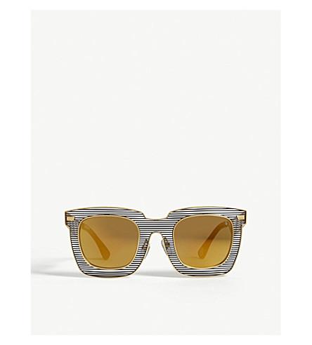 BAPE BS13007 square-frame sunglasses (Gold