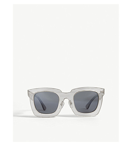 BAPE BS13007 square-frame sunglasses (Silver