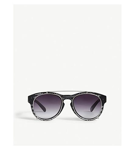 BAPE BS13014 round-frame sunglasses (Tortoise+brown
