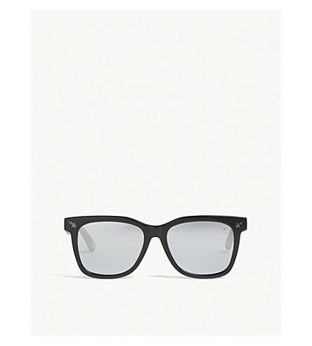 BAPE Parka s04 square-frame sunglasses (Brown+green