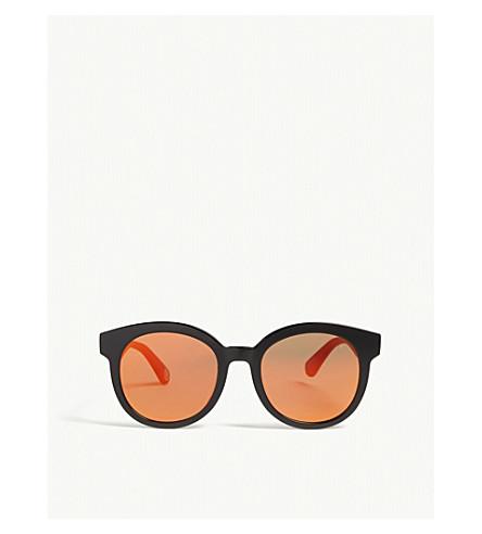 BAPE Parka s03 round-frame sunglasses (Yellow