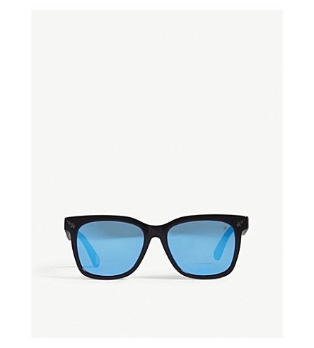 BAPE Parkas04 square-frame sunglasses (Blue