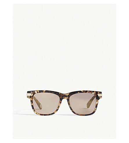 BAPE BA13052 square-frame sunglasses (Tortoise+brown