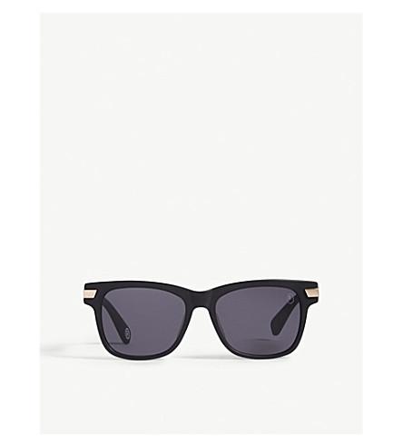 BAPE BA13052 square-frame sunglasses (Black+gold