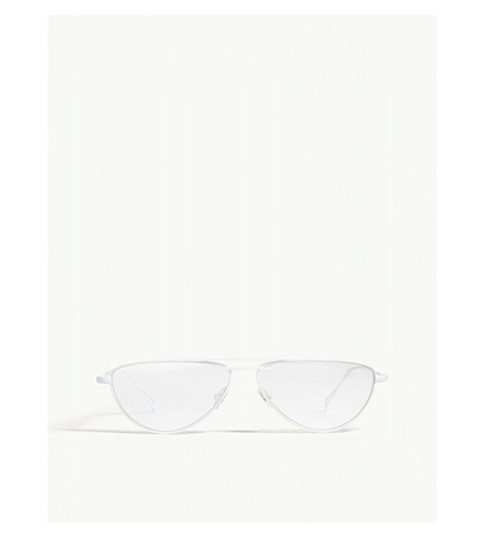 NATURE OF REALITY (NOR) Frequency irregular frame sunglasses (White