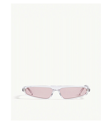NATURE OF REALITY (NOR) Phenomenon rectangle-frame sunglasses (Clear