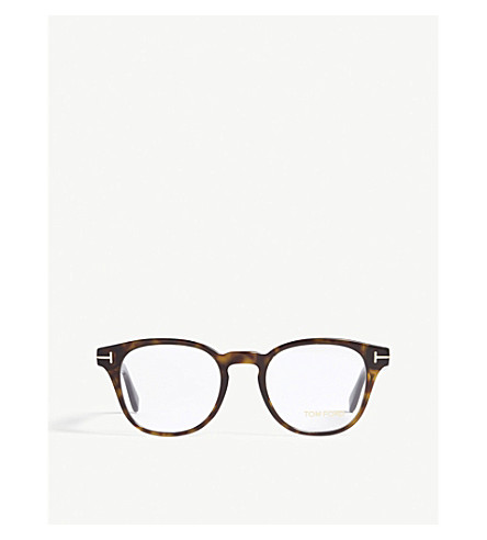 TOM FORD TF5400 square-frame glasses (Brown
