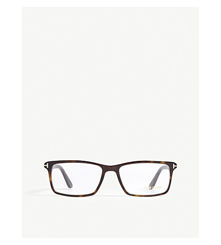TOM FORD TF5408 square-frame glasses (Brown