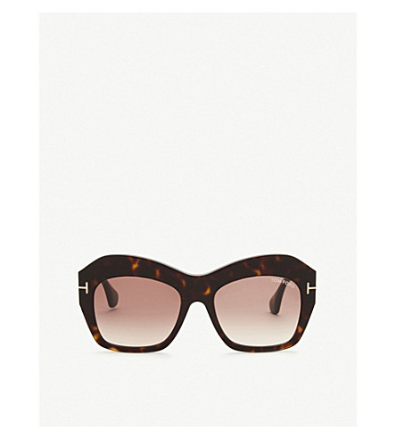 TOM FORD Ondria irregular sunglasses (Gold