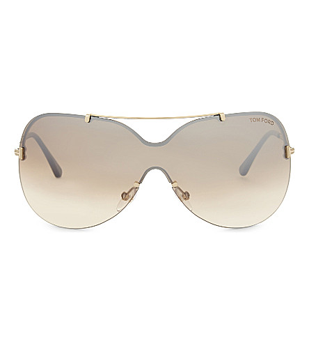 TOM FORD Tf519 Ondria butterfly-frame sunglasses (Gold