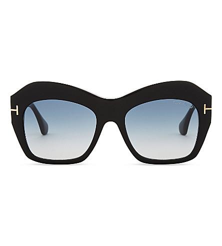 PRADA LINEA ROSSA Emmanuelle square sunglasses (Black