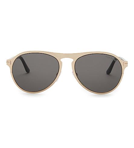 TOM FORD Tf525 Bradburry aviator sunglasses (Gold