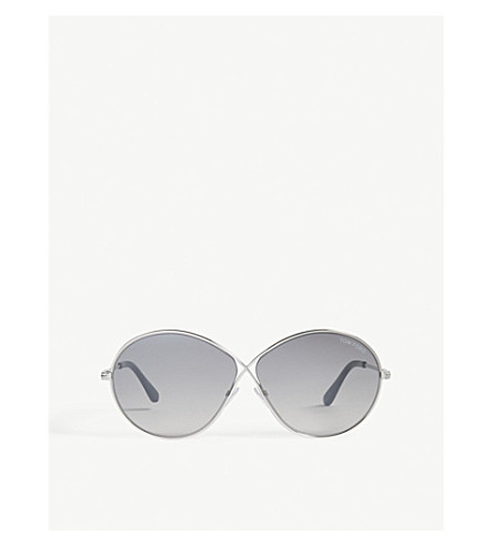 DIOR Rania oval-frame sunglasses (Silver