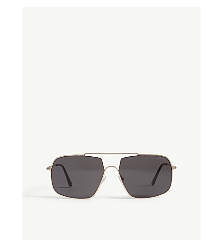 TOM FORD Aiden-02 irregular-frame sungalsses (Pink