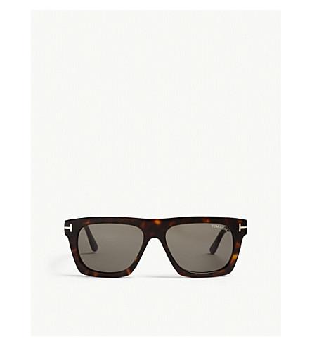 TOM FORD Tortoiseshell Ft0592 Ernesto irregular sunglasses (Brown