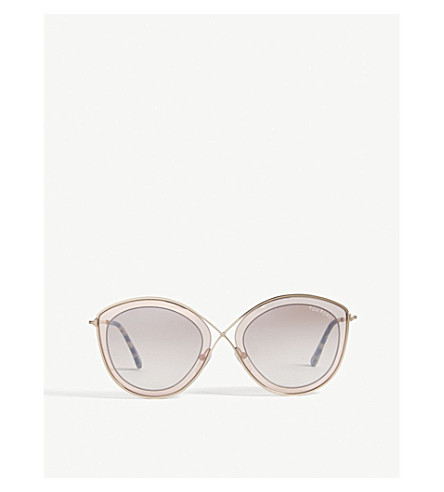 TOM FORD Ft0604 cat-eye-frame sunglasses (Brown