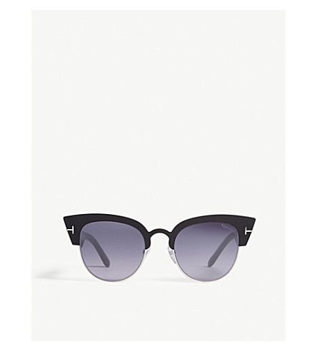 TOM FORD TF0607 cat-eye-frame sunglasses (Black