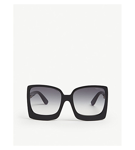 TOM FORD Tf0617 Katrine square-frame sunglasses (Black