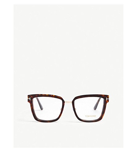 TOM FORD Ft5507 square glasses (Brown
