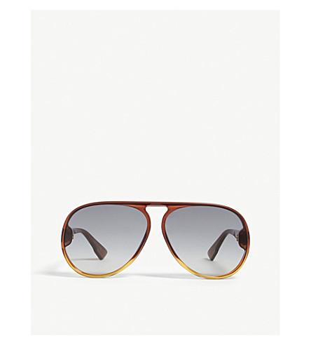 DIOR DiorLia Havana pilot sunglasses