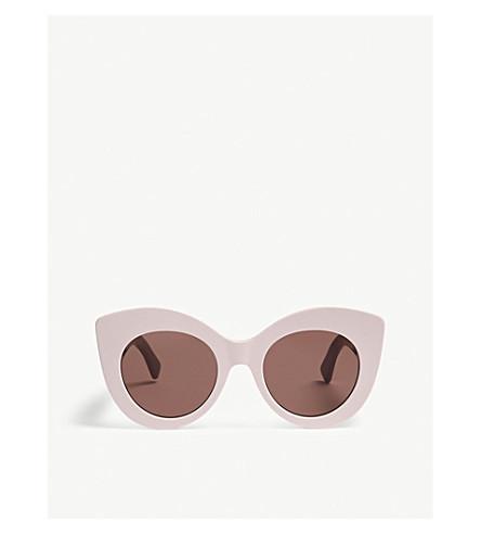 FENDIFF0306s 猫眼框架太阳镜 (粉红色