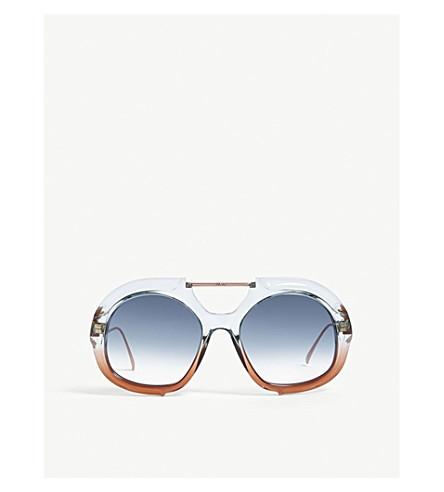 FENDI Round-frame sunglasses (Blue