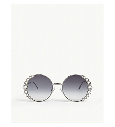 6bb9579c15 FENDI FF0324 S Ribbons   Crystals round-frame sunglasses (Silver