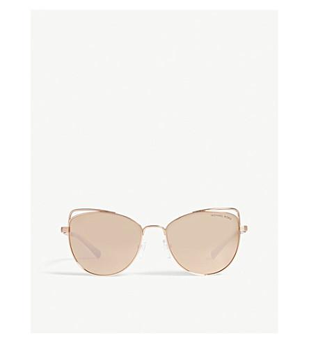 MICHAEL KORS Michael Kors Rose Gold St. Lucia Cat's Eye Sunglasses MK1035 (Rose+gold