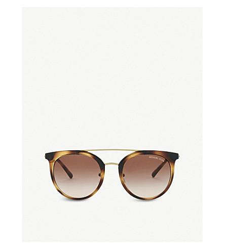 MICHAEL KORS Havana Lia round sunglasses (Dark+tort