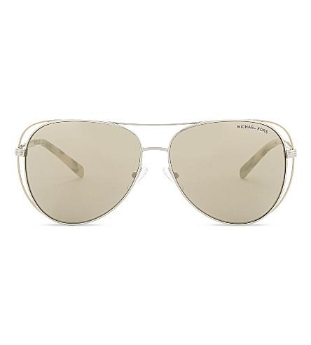 MICHAEL KORS Lai Pilot aviator sunglasses (Silver