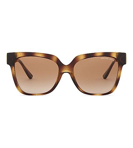 MICHAEL KORS Havana Ena square sunglasses (Dark+tortoise