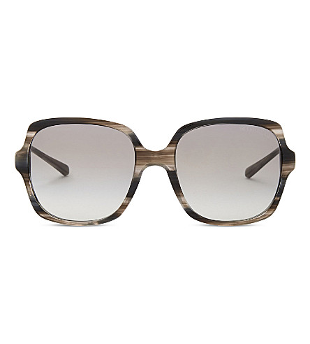 MICHAEL KORS Bia square sunglasses (Black+horn