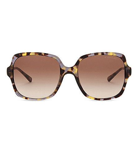MICHAEL KORS Havana bia square sunglasses (Brown+grey+tort