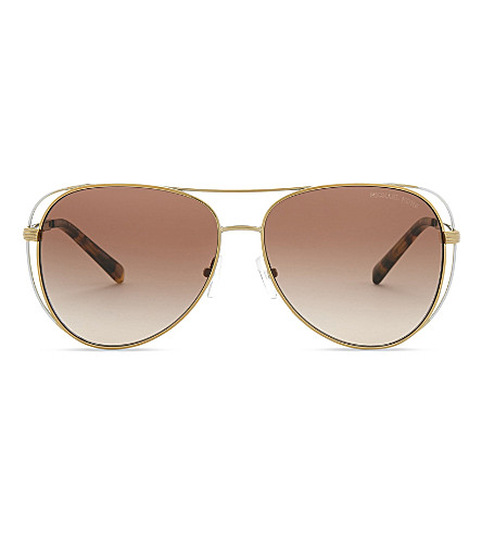 MICHAEL KORS Pilot aviator sunglasses (Pale+gold