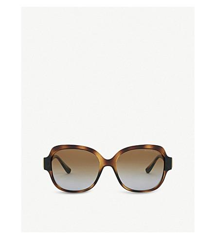 MICHAEL KORS Havana Suz square sunglasses (Dark+tortoise