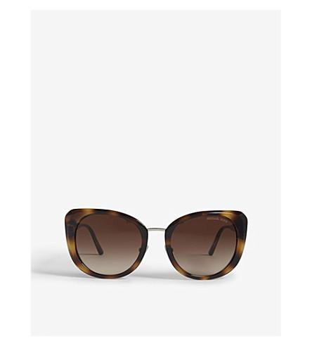 MICHAEL KORS Lisbon cat-eye frame sunglasses (Dark+tortoise