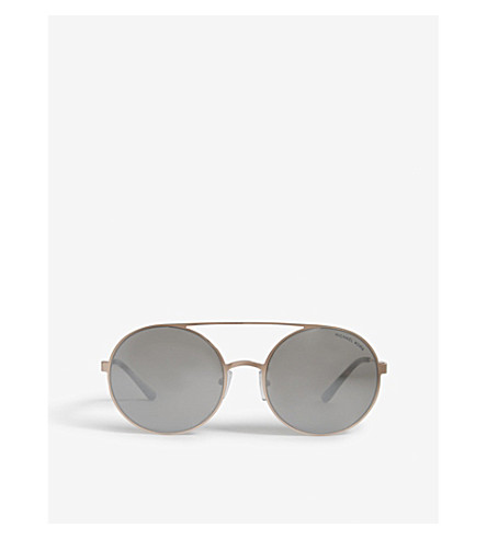 MICHAEL KORS Cabo round-frame sunglasses (Rose+gold-tone