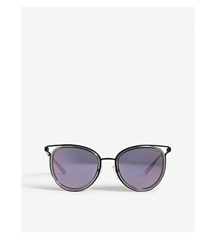 MICHAEL KORS Havana cut-out cat-eye frame sunglasses (Black