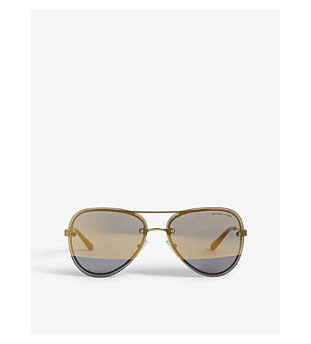 MICHAEL KORS La Jolla aviator-frame sunglasses (Pale+gold-tone