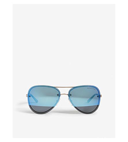 MICHAEL KORS La Jolla aviator-frame sunglasses (Rose+gold+tone