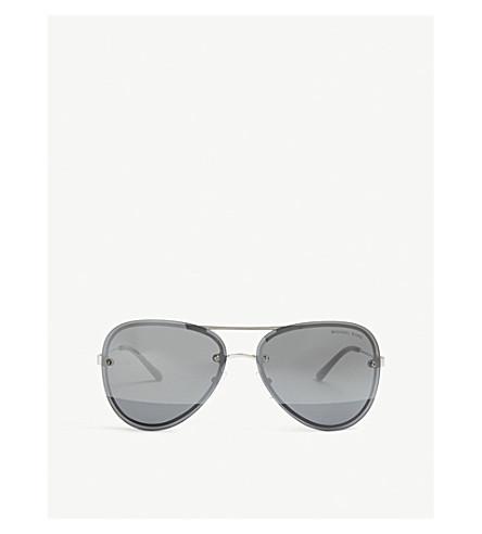 MICHAEL KORS 飞行员框架太阳镜 (银色 + 口气