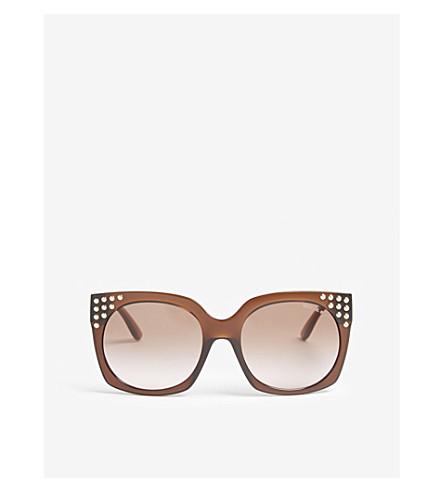 MICHAEL KORS Destin square-frame sunglasses (Dark+brown