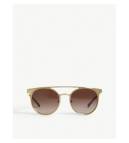 MICHAEL KORS Grayton round-frame sunglasses (Shiny+pale+gold