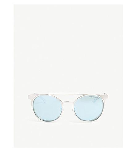 MICHAEL KORS Grayton round-frame sunglasses (Shiny+silver