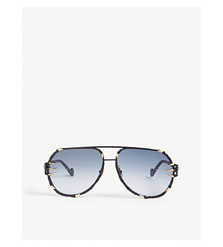ANNA-KARIN KARLSSON The Claw pilot-frame sunglasses (Black