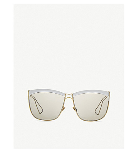 DIOR Half-frame sunglasses (White+yellow