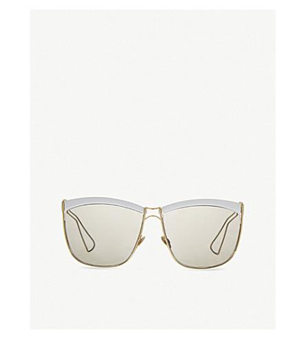 DIOR Half-frame sunglasses (White/yellow
