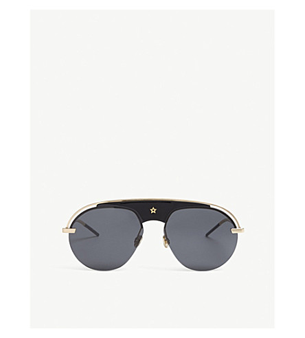 DIOR Dio(r)evolution pilot-frame sunglasses (Black+gold